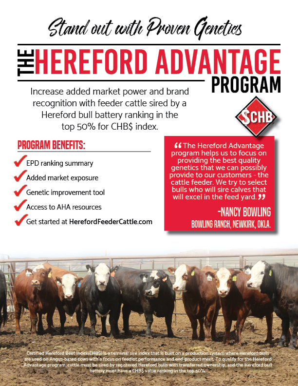Hereford Advantage Half Page Insert