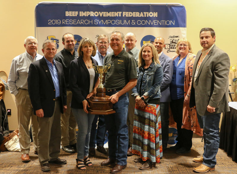 Tracey and Bruce Mershon, Mershon Cattle LLC, received the BIF 2019 Commercial Producer of the Year award.