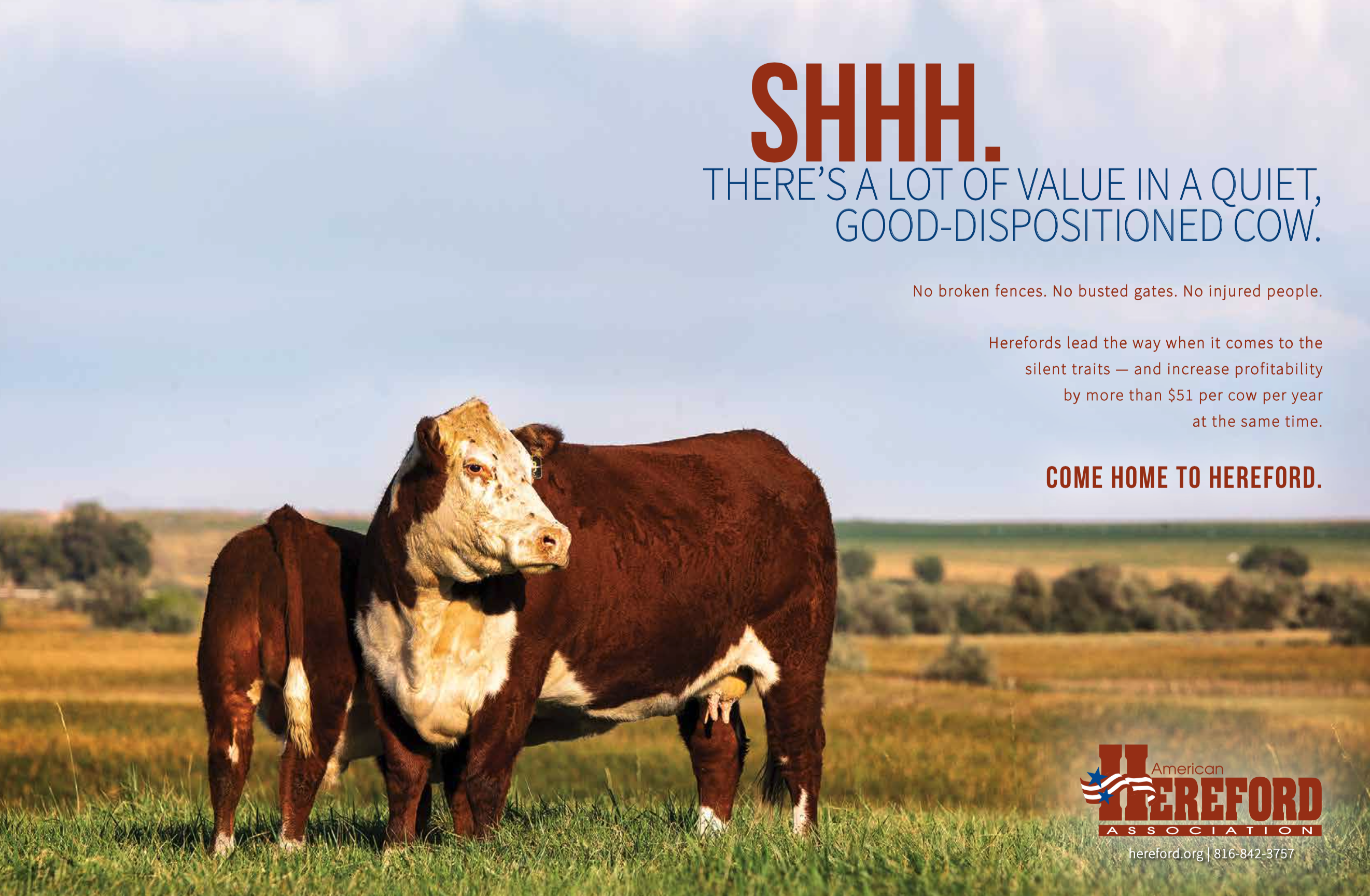 'Shhh' Full Page Insert — No Bleeds